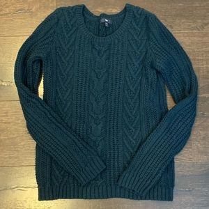 Gap Navy Blue Cable Knit Fisherman Sweater